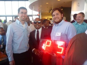 Me and Pete with Daymond John of Shark Tank and FUBU fame.